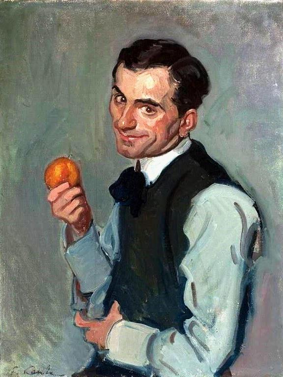 Lentz_Man_with_an_orange